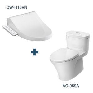 Bồn cầu nắp rửa điện tử Inax AC-959A + CW-H18VN