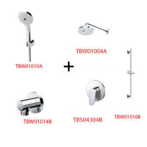 Sen tắm âm tường ToTo TBS04304B kèm phụ kiện 4 món
