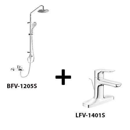 Sen cây Inax BFV-1205S kèm vòi rửa LFV-1401S