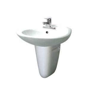 Chậu rửa chân lửng Inax L-284V+L-284VC (Màu trắng)