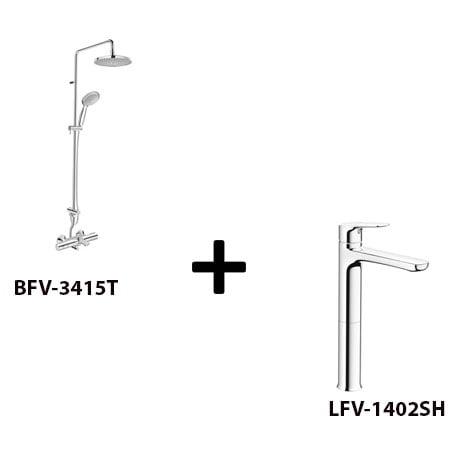 Sen cây Inax BFV-3415T kèm vòi rửa LFV-1402SH