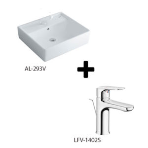 Chậu lavabo kèm vòi rửa Inax AL-293V + LFV-1402S