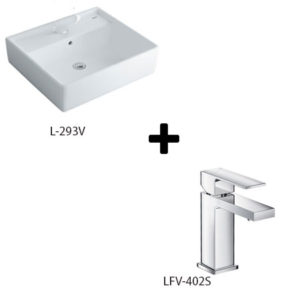 Chậu rửa lavabo kèm vòi rửa Inax L-293V+LFV-402S