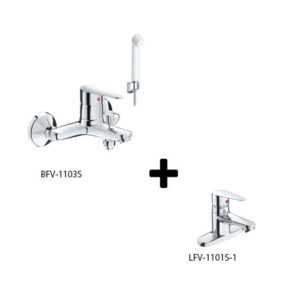 Sen tắm kèm vòi rửa lavabo Inax LFV-1101S-1+BFV-1103S