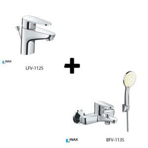 Sen tắm kèm vòi rửa lavabo Inax LFV-112S+BFV-113S