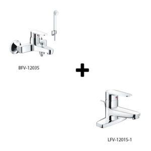 Sen tắm kèm vòi rửa lavabo Inax LFV-1201S-1+BFV-1203S