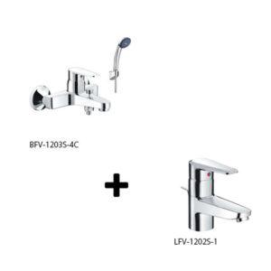 Sen tắm kèm vòi rửa Inax LFV-1202S-1+BFV-1203S-4C