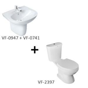 Bộ sản phẩm bồn cầu American VF-2397 + chậu lavabo VF-0947