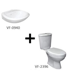 Bộ sản phẩm bồn cấu American VF-2396 + chậu lavabo VF-0940