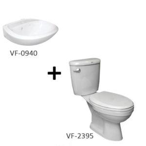 Bộ sản phẩm bồn cầu American VF-2395 + chậu rửa lavabo VF-0940