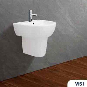 Bộ chậu rửa Lavabo treo tường Viglacera CD51