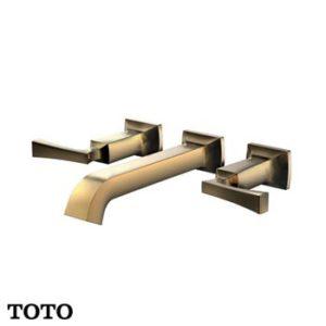 Vòi chậu nóng lạnh gắn tường mạ vàng TOTO DLB202#PG